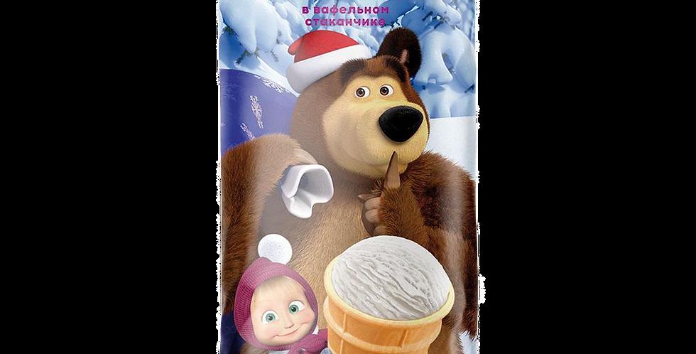 Мороженое Пломбир Ванильный МАША и МЕДВЕДЬ 130мл