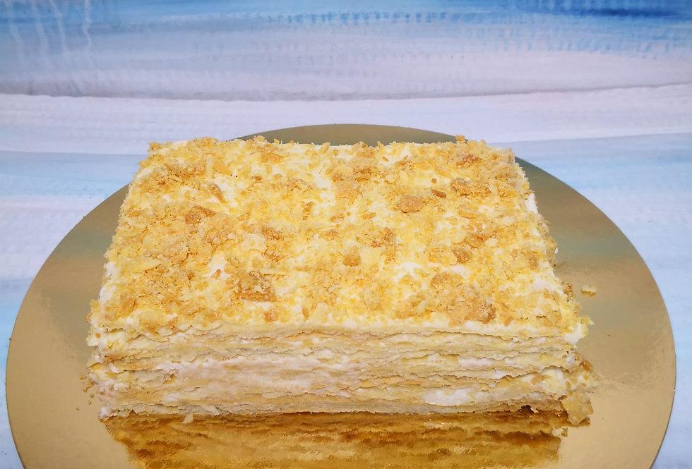 торт НАПОЛЕОН  800гр (свежая выпечка заказ за 24 часа)