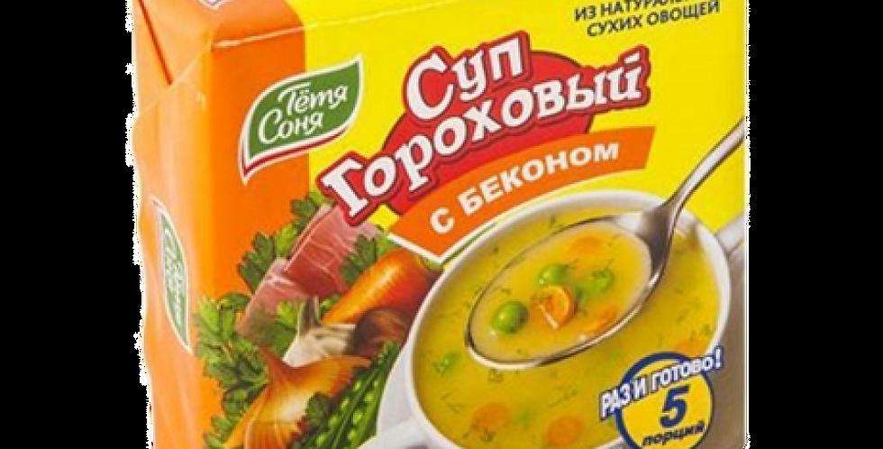 Суп гороховый с беконом 180гр (брикет)