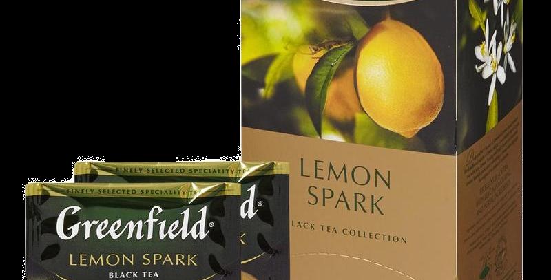 чай GREENFIELD лимонный 25шт * 1,5гр