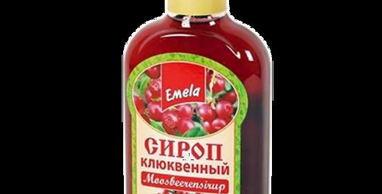 сироп КЛЮКВА натуральный 200мл