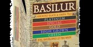 смесь 5 сортов чёрного и зелёного чая ,,BASILUR,, 25*1,5 гр