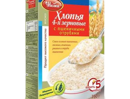 хлопья 4-х зерновые Увелка 350 гр