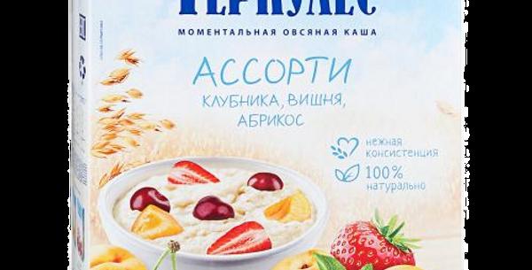 геркулес АССОРТИ (клубника,вишня,абрикос) 6шт * 35гр