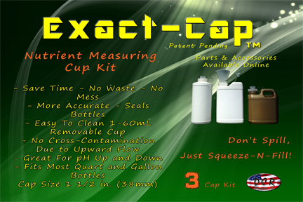 exact cap nutrient measuring cup kit