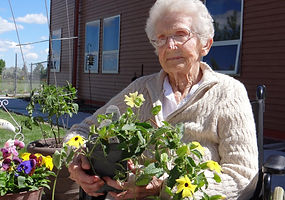 Resident at the PMC Extended Care Facility Garden