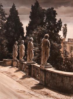 Statue su Piazza del Popolo