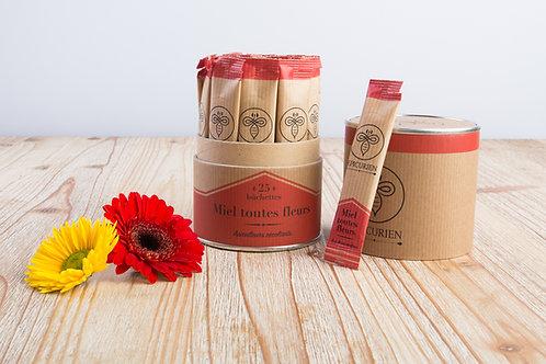 Boite de 25 bûchettes de miel Toutes Fleurs
