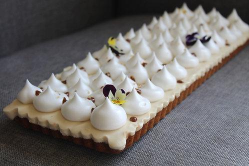 HAZELNUT & WHITE CHOCOLATE TART