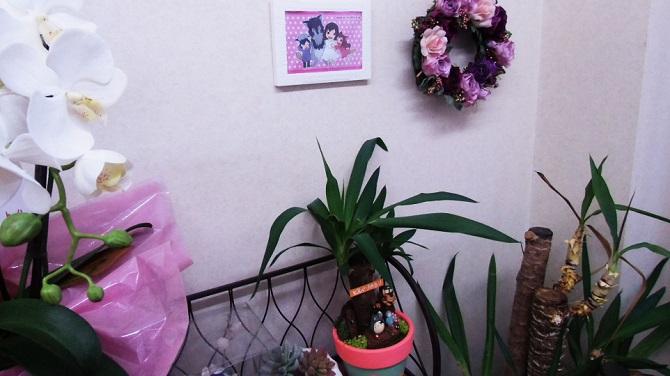 待合場所は、観葉植物を飾ったりと、ゆったりと過ごして頂けます。