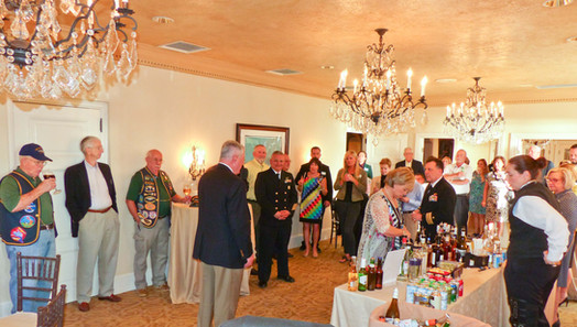 USS Jacksonville Reception for CO and COB