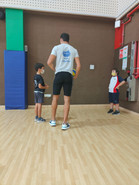 Coach Abdou in action with our talented little ones!