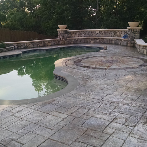 Stamped Concrete Pool Decks by Greystone MasonryStamped Concrete Pool Decks by Greystone Masonry