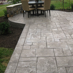 Stamped Concrete Patio Designs by Greystone Masonry
