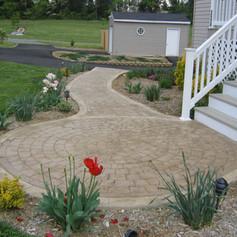Stamped Concrete Walkway Designs by Greystone Masonry