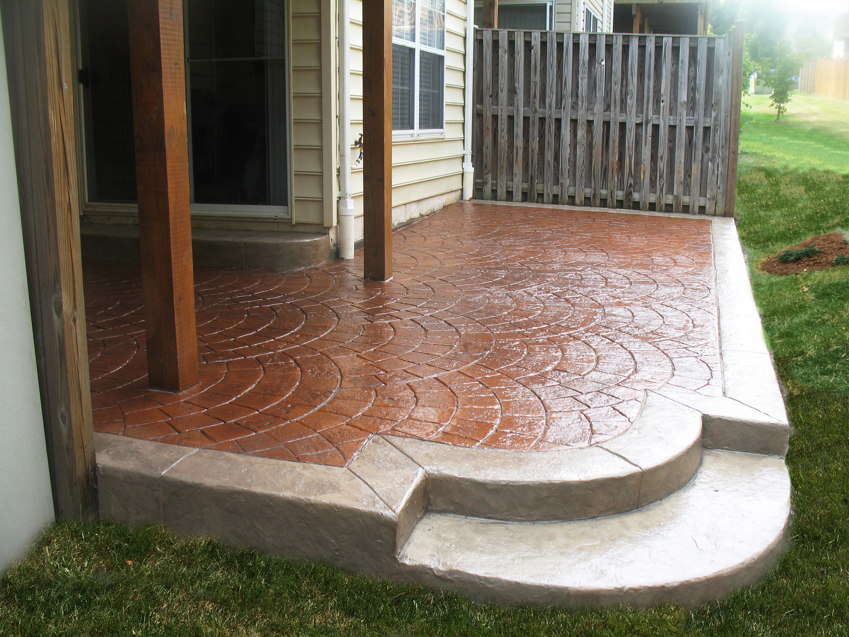 Stamped Concrete Patio Designs by Greystone Masonry | PATIOS