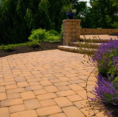 Walkways by Stone & Mulch Center Material