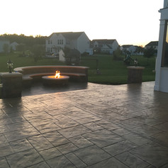 Stamped Concrete Walls by Greystone Masonry