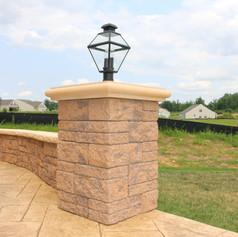 Stamped Concrete Walls by Greystone Masonry