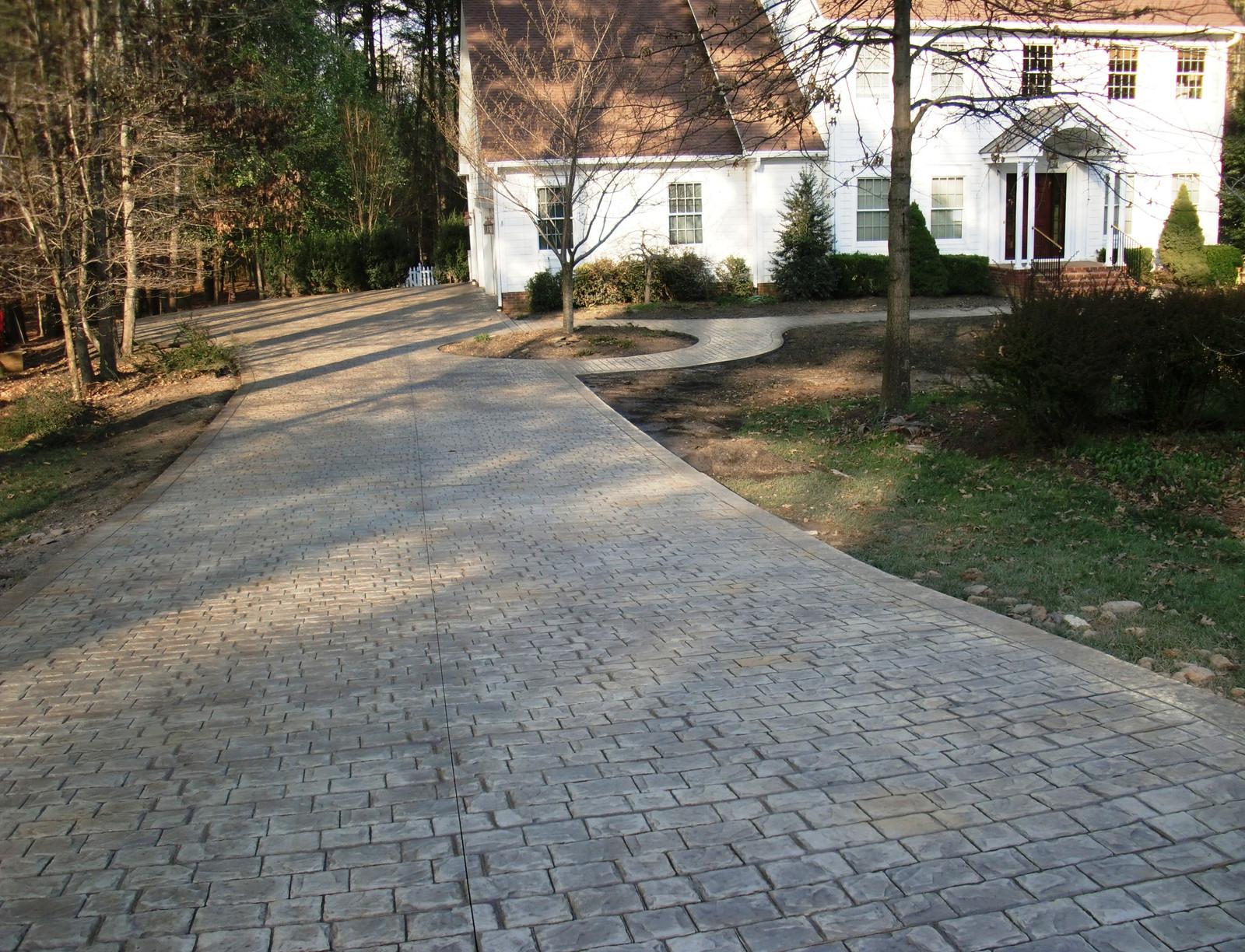 Stamped Concrete Driveway Designs by Greystone Masonry