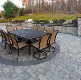 Patio by Stone & Mulch Center Material