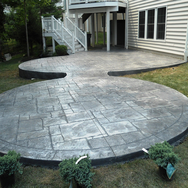 Stamped Concrete Patio Designs by Greystone Masonry