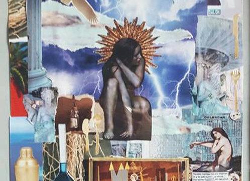 Jesus and the Sea - Original Collage