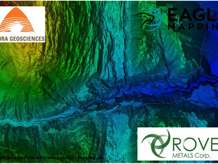 """Aurora Geosciences Contracts Four LiDAR Surveys for Their Client """"Rover Metals Corp."""" in the NWT"""