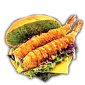 EBI FURAI MACHA BURGER (PRAWN)