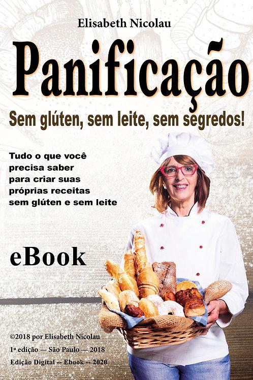 Ebook em PDF - Panificação sem glúten, sem leite, sem segredos.