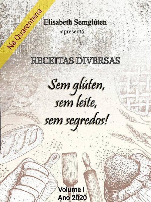 E-book em PDF - Receitas Diversas Sem glúten, sem leite, sem segredos