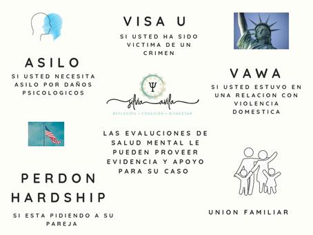 Evaluaciones para Inmigracion