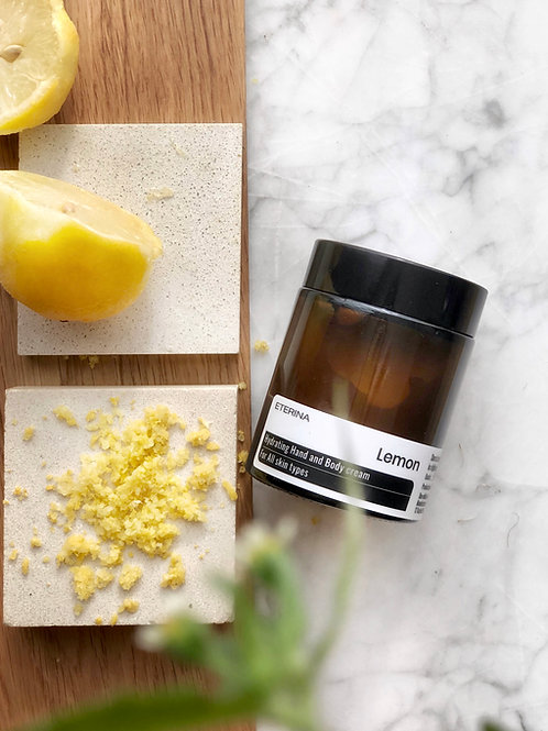 Lemon Hydrating hand and body cream for all skin types
