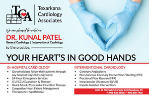 Please help us welcome Dr. Patel to Texarkana!