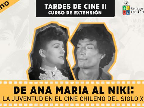 """Inscripción Curso """"De Ana María al Niki: la juventud en el cine chileno del siglo XX"""""""