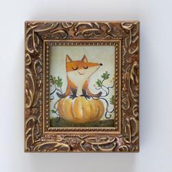 Fox on a Pumpkin
