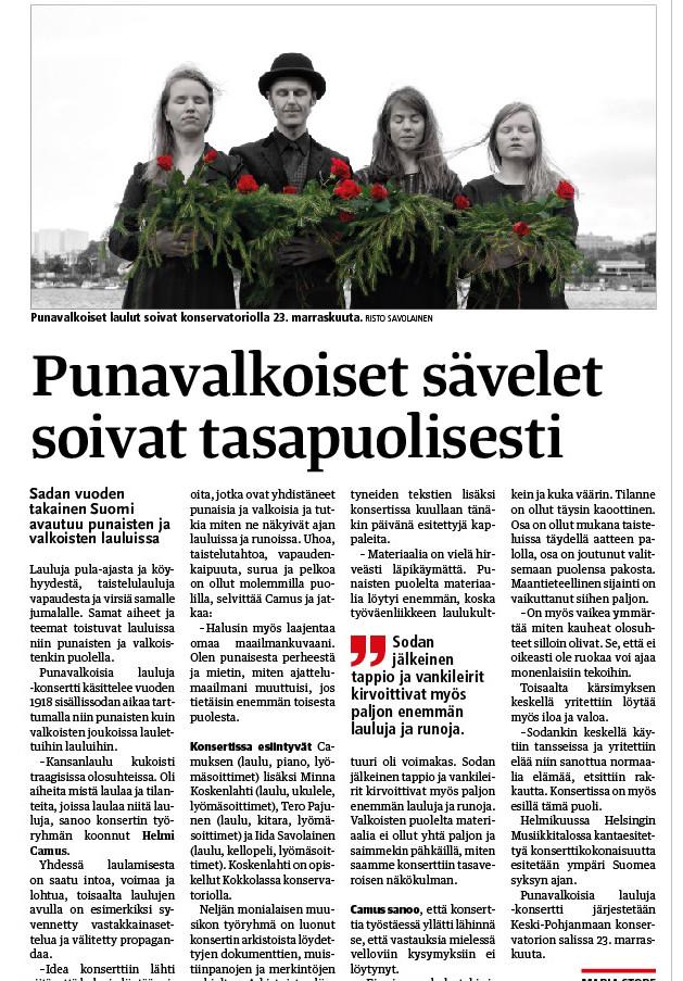 Kokkola-lehti 21.11.2017
