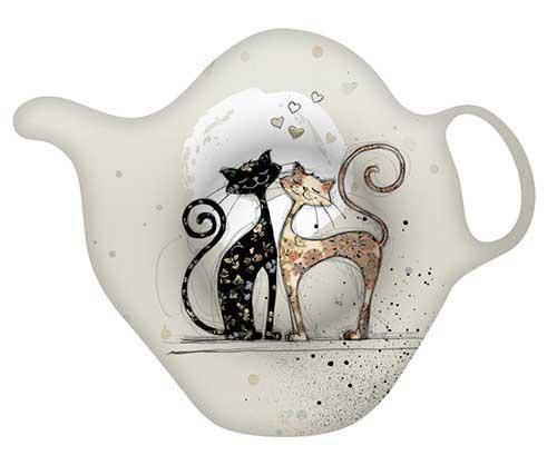 Porte-sachet de thé - Chat couple