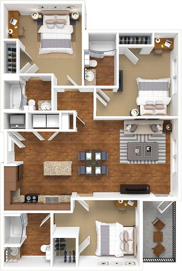 Diseño_de_apartamento_con_tres_habitacio