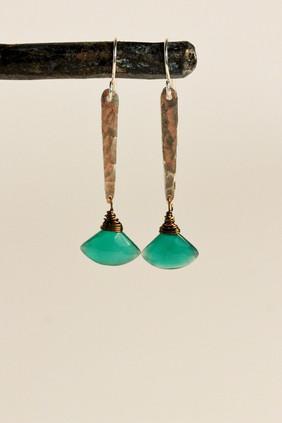 River Stix earrings- green onyx