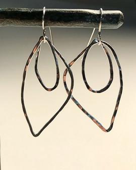 sterling leaf/vagina earrings