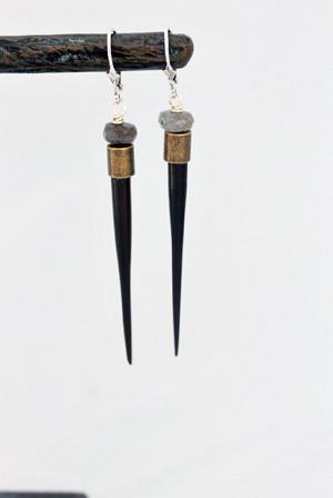 Reviler Earrings- Dark tones
