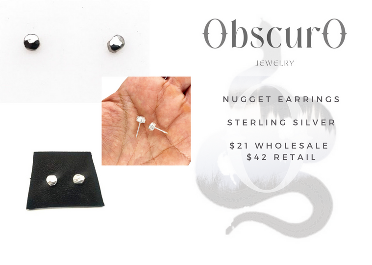 Nugget earrings in sterling silver.png