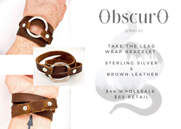 Take The Lead Wrap Bracelet- brown leather.png