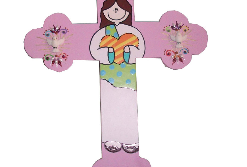 Crucifixo ponta redonda