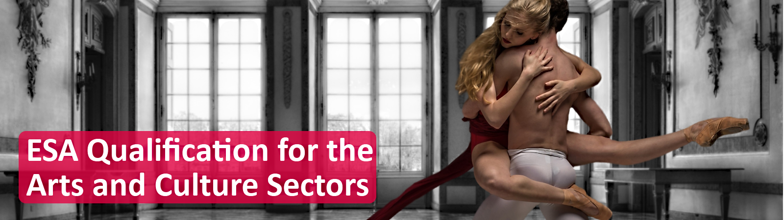 ESA Qualification for the arts web slider banner