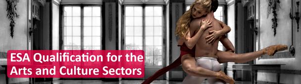 ESA Qualification for the arts web slider banner