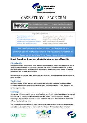 Technology Partners Renoir Group case st