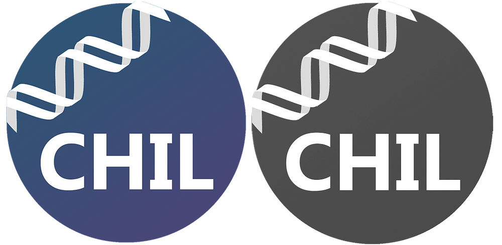 CHIL logo colour and bw