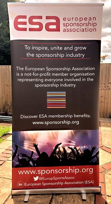 European Sponsorship Association corporate display banner